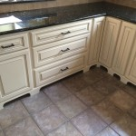 Custom cabinets with base board moulding