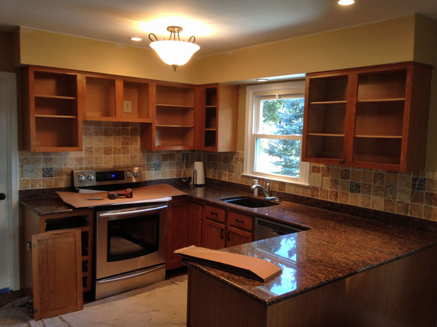 Kitchen refacing with us is more than just refacing the cabinet fronts. & Completed Kitchen Refacing Job | Capital Kitchen Refacing