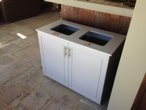 custom outdoor trash bin